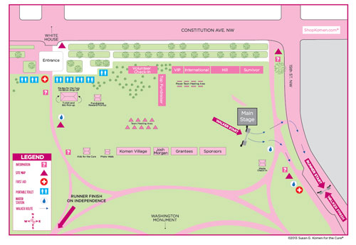 Komen Global Race Site Map