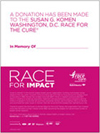 Susan G. Komen - Tribute Card - In Memory of